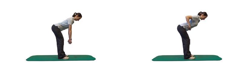 Rudern im hüftbreiten Stand mit Zusatzlast