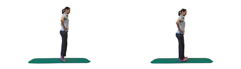 Beidbeiniger Stand mit wechselseitigem Ballen- und Fersenstand