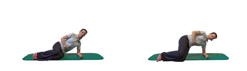 Seitstütz mit Becken gehoben halten