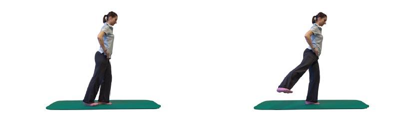 Einbeinstand mit Hüftabduktion des Spielbeines