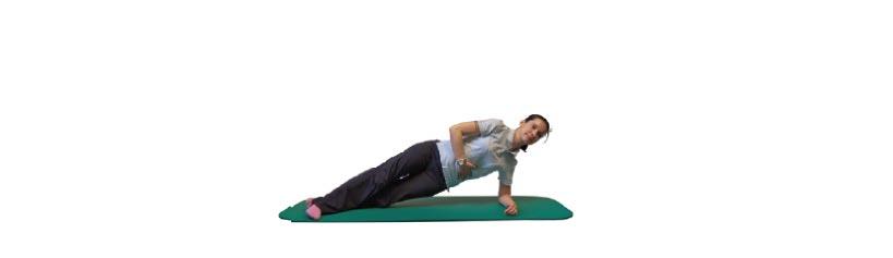 Seitstütz mit gestreckten Beinen und Becken halten