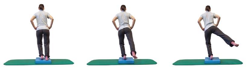 Einbeinballenstand mit Hüftabduktion und Extension des Spielbeines